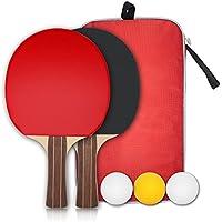 卓球 ラケット(2本) ピンポン球3個 収納袋付き (ラケットx2)