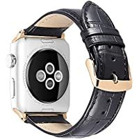 iStrap Alligator Grain Calf Leather Watch Band fit Apple iWatch Series 1 2 3 Edition Sport 38mm 42mm