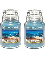 Yankee CandleターコイズSky 22oz Jar Candle、Large 2パック