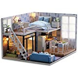 Nrpfell DIY Doll House Wooden Doll Houses Miniature Dollhouse Furniture Kit Toys for Children