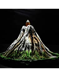 PHILOGOD 逆流香炉 樹脂プロセス手塗り富士山香炉 お香 香皿ホルダー ホームデコレーション香置物 香立て