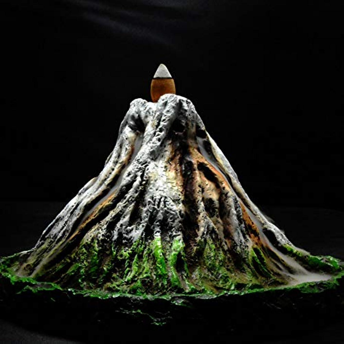 退院褐色染料PHILOGOD 逆流香炉 樹脂プロセス手塗り富士山香炉 お香 香皿ホルダー ホームデコレーション香置物 香立て