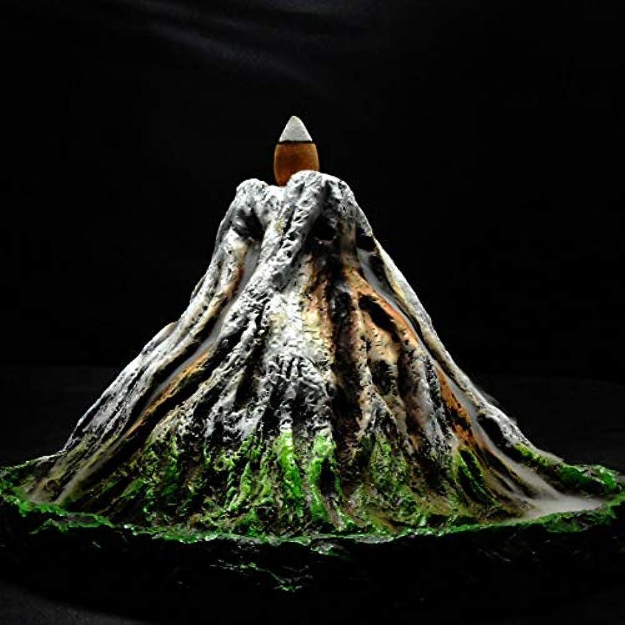 リビングルーム再編成する山積みのPHILOGOD 逆流香炉 樹脂プロセス手塗り富士山香炉 お香 香皿ホルダー ホームデコレーション香置物 香立て