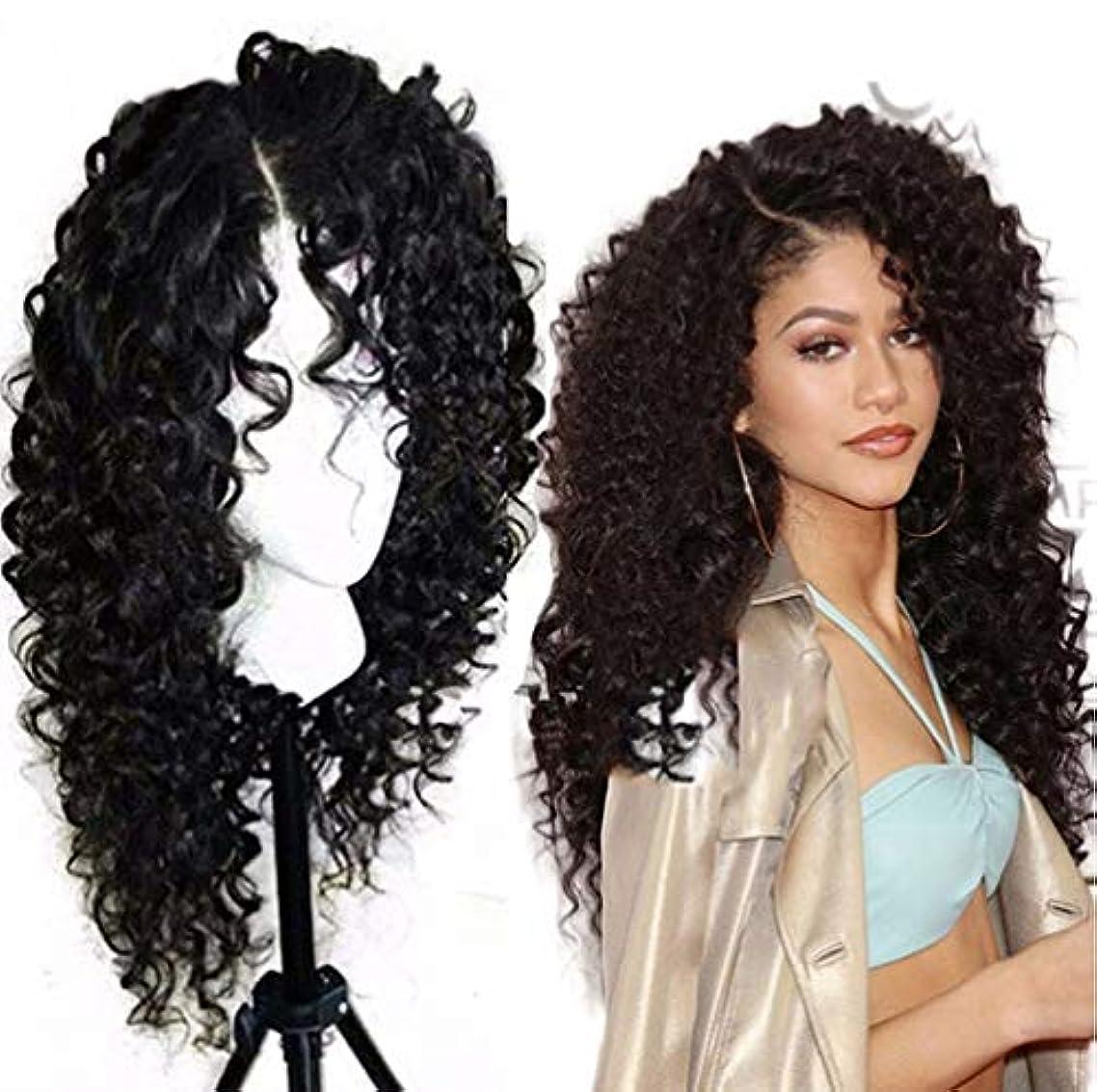 選出するふさわしい熱意女性ブラジルのRemyディープウェーブヘアウィッグ130%密度レースフロント人間の髪の毛のかつら