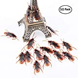 50pcs Fake Roaches Prank Trick Toys Cockroach Bugs Look Real