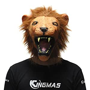 KINGMAS ライオン マスク 仮面 お面 ハロウィン 仮装 マスク 獅子 お面 なりきりマスク