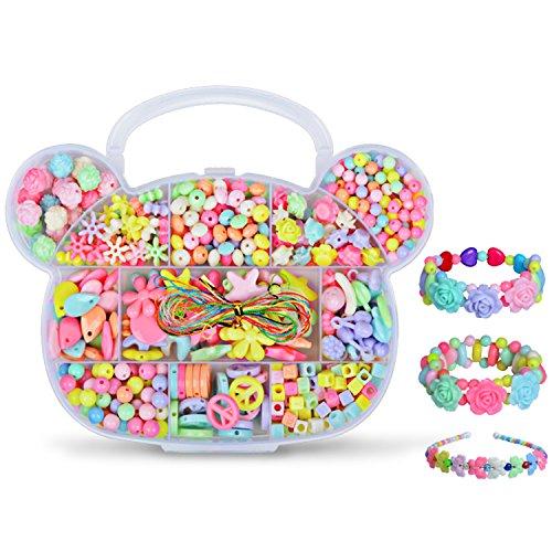[해외]세레온 장난감 비즈 악세사리 파스텔 귀여운 곰 모양 케이스 수제 교육 완구 메이킹 토이 DIY 재료 여자 아이의 생일 선물/Seleon Toy Beads Accessory Kit Pastel Color Cute Bear Type Case Handmade Educational Toy Making Toy DIY Material Gir...