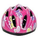 ヘルメット 子供用 軽量 3-7歳 helmet 9ホール シンプル スポーツ スケートボード キックボード ローラー スケート ウォーター スポーツ ローズレッド昆虫柄 (形2)