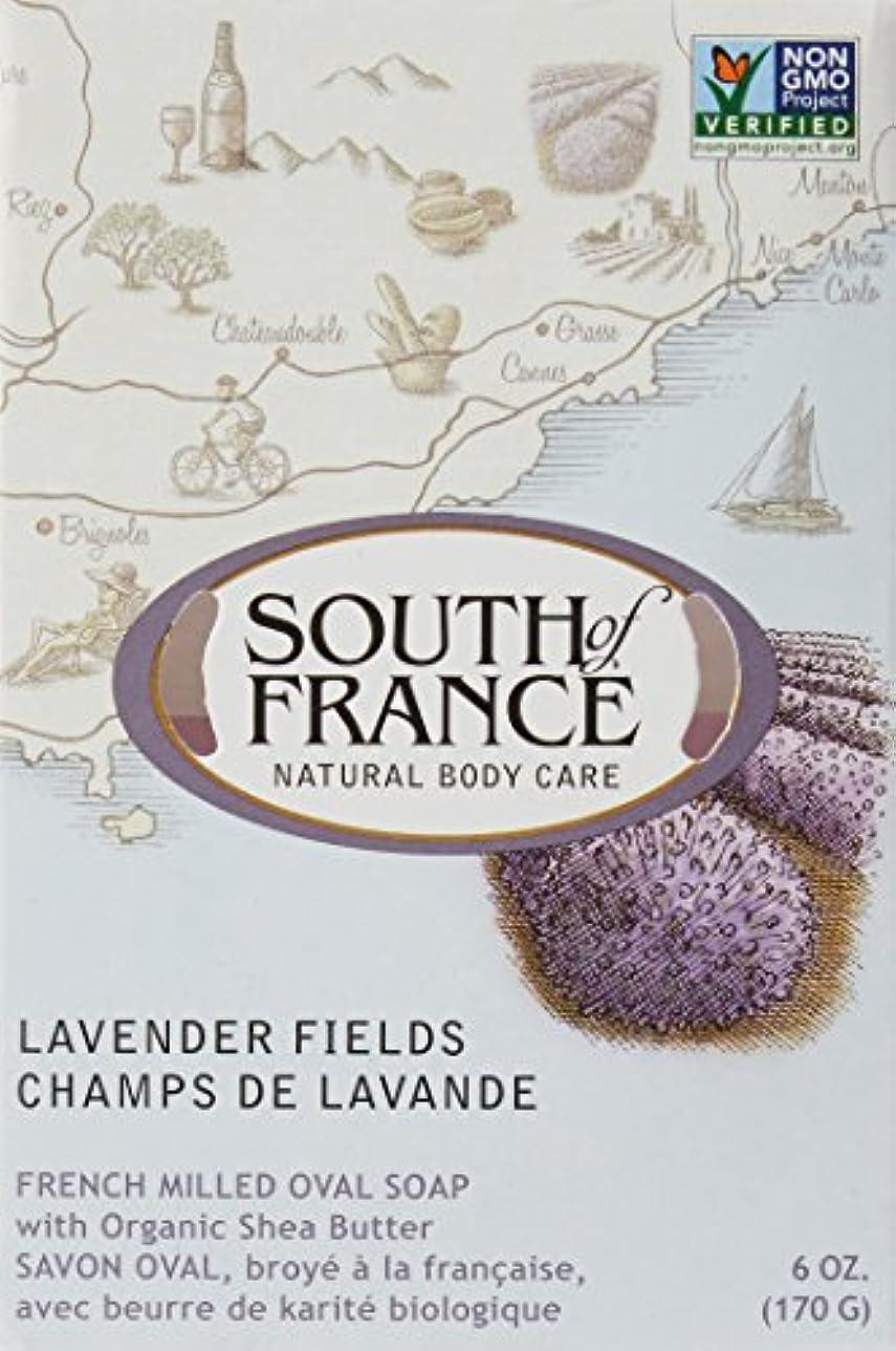 拷問ハンサムレモンSouth of France - フランスの製粉された野菜棒石鹸のラベンダーは守備につく - 6ポンド