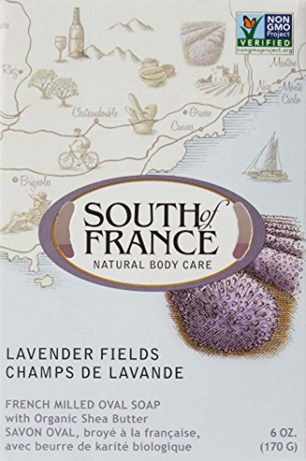 野心悪因子割り込みSouth of France - フランスの製粉された野菜棒石鹸のラベンダーは守備につく - 6ポンド