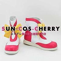 【サイズ選択可】コスプレ靴 ブーツ K-1450 カードキャプターさくら CARDCAPTOR SAKURA 木之本桜 きのもと さくら 女性23CM