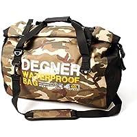 DEGNER(デグナー) ウォータープルーフボストンバッグ ポリエステル/PVC カモ/ブラック H34xW50xD28.5(cm) NB-115