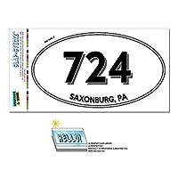 724 - Saxonburg, PA - ペンシルベニア州 - 楕円形市外局番ステッカー