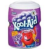 【海外直送品】クールエイド お水に溶かすだけで簡単ジュース。粉タイプ グレープ味 約18リットル分 Kool-Aid Grape Drink Mix 19oz