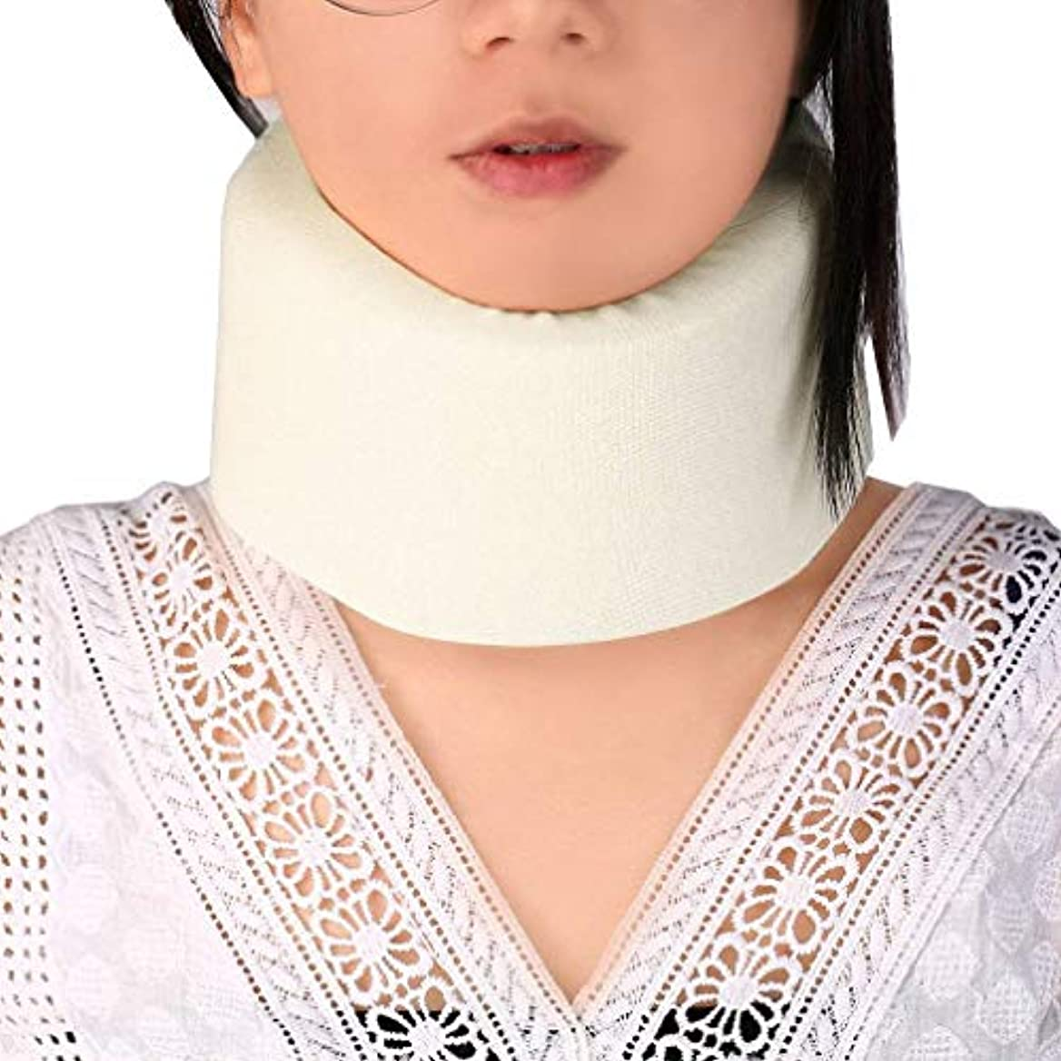 実行道徳禁じるOral Dentistry 首 サポーター ソフト 頸椎 首こり ソフト頸椎カラー 肩の痛みの軽減 着脱 簡単 男女兼用 ホワイト
