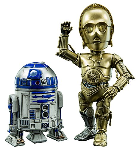 【ハイブリッド・メタル・フィギュレーション】『スター・ウォーズ』#024 C-3PO&R2-D2 高さ約14cm 合金製 塗装済み可動フィギュア
