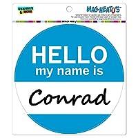 コンラッドこんにちは、私の名前は - サークル MAG-格好いい'S(TM)カー/冷蔵庫マグネット