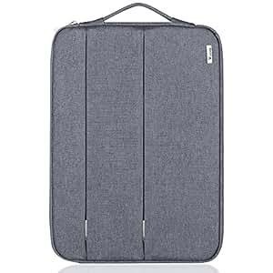 Voova 11.6 12 12.1 12.2 12.5インチラップトップスリーブケース 防震 防水 ノートパソコンバッグ 耐衝撃 PCインナーバッグ 持ち歩き 通勤 パソコン ビジネス 手提げカバン コンピューター/ウルトラブック /Chromebook/MacBook Air Pro/Surface Pro 4 3/Dell/Acer/HP/Sony/Samsung/東芝/富士通 保護用キャリングケース 荷物に取付可能 ( グレー)