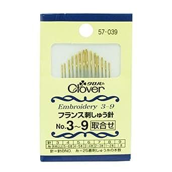 Clover フランス刺しゅう針 No.3~9 57-039
