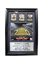 Encore Select 182–07NFL Chicago Bears FramedスポーツMemorabilia with Tripleスポーツカードのトップスター選手、12-inch by 18インチ