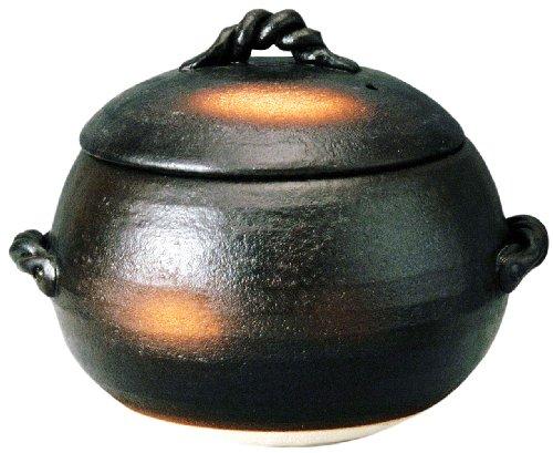 萬古焼 ご飯土鍋 5合炊き 伊賀風 M4807...