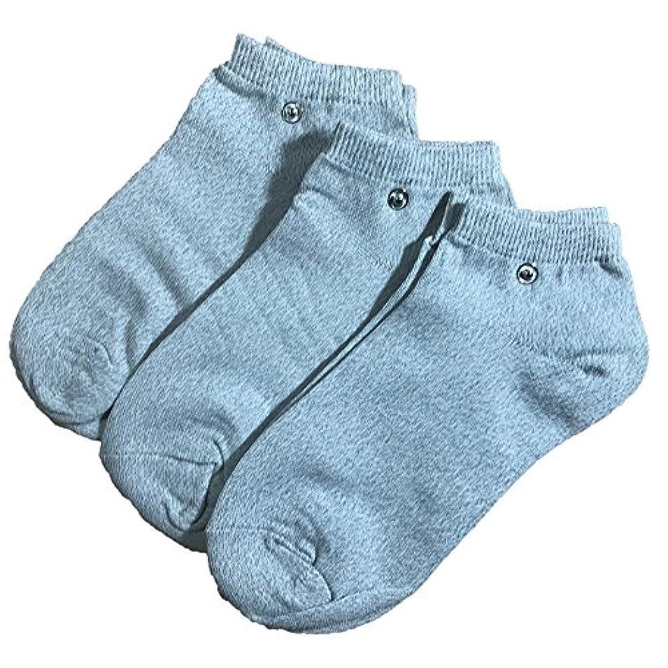 強制的包括的準拠riraku-life(??????) 大地と繋がるアーシング健康法用 アーシングソックス(low)お徳用3足セット 導電性靴下 (M)