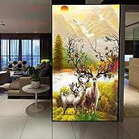Bzbhart テレビの背景装飾画、壁用ステッカー壁紙現代の写真壁の壁画の壁紙壁のための3Dエルクの絵画家の装飾の到着ファブリック壁の壁画-300cmx210cm