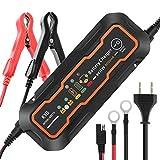 KYG バッテリー充電器 カーバッテリー 大電流 5A 12V 6V兼用 コネクタ付 過電流保護 自動車 バイク用