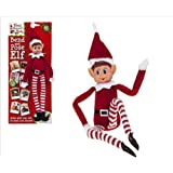30cm Bend and Pose Elf Boy - With Vinyl Faces & Hook and loop Hands - The Bigger The Elves The More Mischief