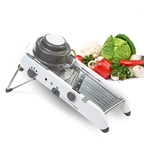 LEKOCH 多機能野菜スライサー 厚み調整機能付き野菜カッター 安全ガード付き万能野菜調理器具