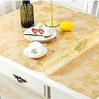 PVC透明パウダープリントテーブルクロス/テーブルカバー、防水/拭き取り可能/カーラブル、1.5 mm厚テーブルクロスカバースクエアテーブル、ホーム|キッチン|レストラン (色 : E, Size : 90x150x0.15cm)