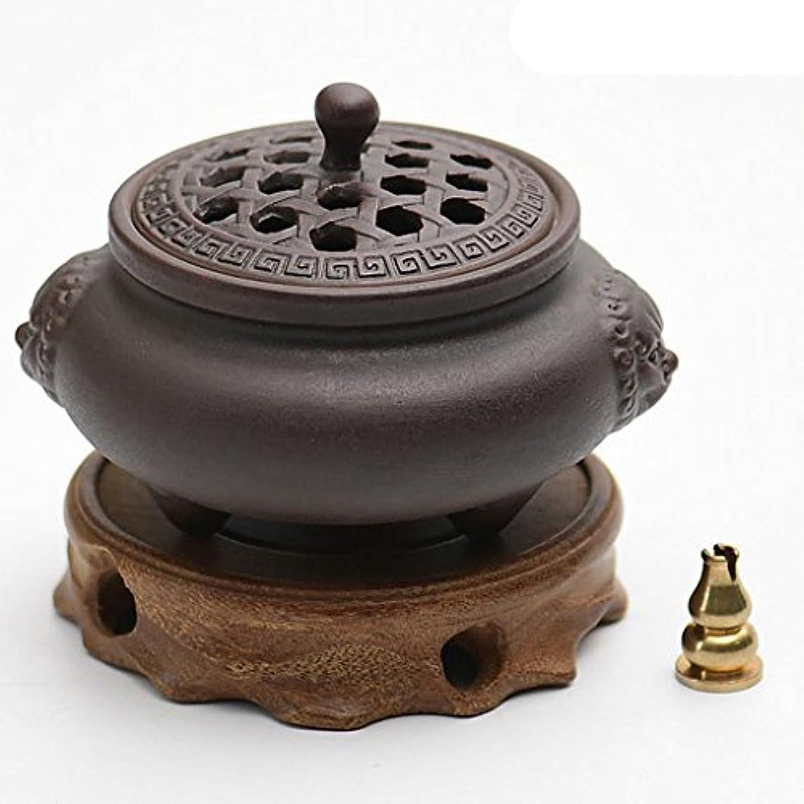 エスニック美しいガレージ(ラシューバー) Lasuiveur 香炉 線香立て 香立て 職人さんの手作り 茶道用品 おしゃれ  木製 透かし彫り