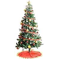 タンスのゲン クリスマスツリー セット 210cm オーナメント 10種 LED 8パターン イルミネーション付き レッド 16910005 01