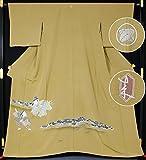 本加賀友禅 色留袖 二代目 由水十久作 加賀友禅 色留袖「万歳」 丸に違い柏 巾広