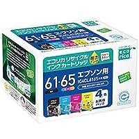 エコリカ・リサイクルインクカートリッジ・-エプソン・IC4CL6165互換-・4色パック・1箱-4色-