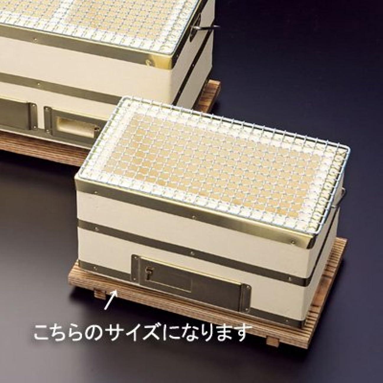 したいボイラーヒップ【入荷次第発送】炭火長角コンロ(金網付) 小 25×14cm
