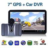 車のGPSナビゲーションシステム、7インチアンドロイド車のGPSナビゲーション8GのドライビングレコーダーWifiのビデオ電子書籍_南米地図