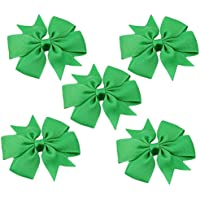 Large Capacity Outdoor Equipment 5PCS Girls Bows Hair Clip (Color : Green)