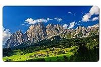 バイエルン、ドイツ、山、村、木、緑、青 パターンカスタムの マウスパッド 旅行 風景 景色 デスクマット 大 (60cmx35cm)