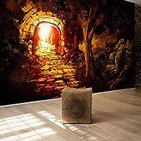 KAHSFA 3D壁紙 カスタム壁壁画壁紙路地ファンタジー森アート壁画ウォールペーパー家の装飾リビングルームの背景-150cmx100cm