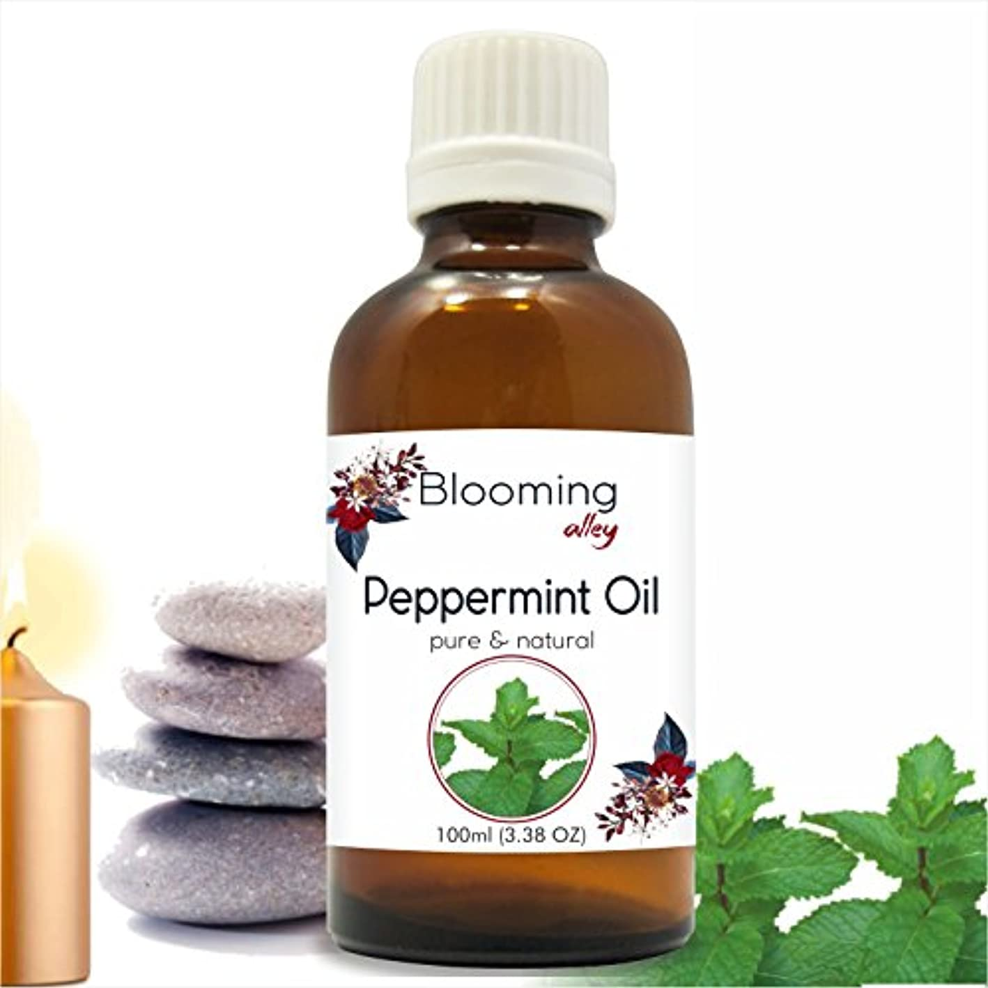 徹底追い払うスピリチュアルPeppermint Oil (Mentha Arvensis) Essential Oil 100 ml or 3.38 Fl Oz by Blooming Alley