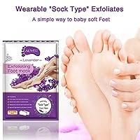 (5袋セット)Aliver足膜古い繭の死皮や角質を除去するために、1週間以内に柔らかい感触を得て、つるっとした足、ざらざらした足を修復します。男女ともに適用する。6種類の選択-パパイヤ足膜、バラ足膜、カモミール足膜、ラベンダー足膜、レモン足膜、アボカド足膜、オリーブ足膜。 (ラベンダー)
