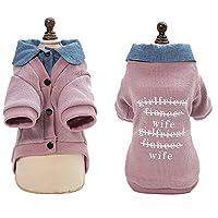 ピンクペットコート子犬犬ジャケット冬の暖かいコート1.5キロについては小型犬猫ウェイトのペット服 - 7.5キロ ペットを暖かく保つ (Color : Pink, Size : M)
