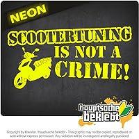 スクーター発射は犯罪ではありません!デザイン2 Scootertuning is not a Crime! Design 2 20cm x 10cm 15色 - ネオン+クロム! ステッカービニールオートバイ