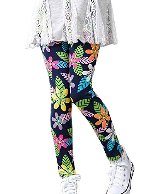 Plus Nao(プラスナオ) レギンス スパッツ ボトムス 9分丈 ジュニア キッズ 子供 服 子ども こども 女の子 女児 動きやすい カジュアル 花柄
