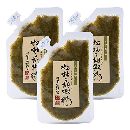 川津食品 川津家謹製 粒柚子胡椒 青 100g ×3個