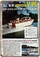 Johnson Boat ティンサイン ポスター ン サイン プレート ブリキ看板 ホーム バーために