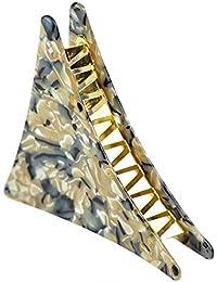 SONONIA べジュー 女の子 シンプルな アクリル 三角形  グリッパ 髪爪 ヘアクリップ ヘアアクセサリー