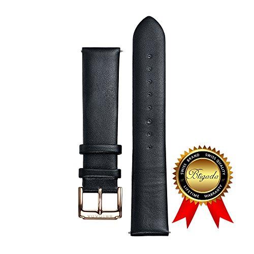 [해외]BRIGADA 남성을위한 패션 소프트 편안한 가죽 시계 밴드 교체 (20mm 표준 길이) [병행 수입품]/BRIGADA Fashion software for men Replacement of comfortable leather watch bands (20 mm standard length) [Parallel import goods]