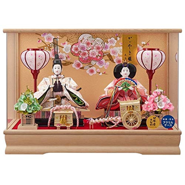 雛人形 親王アクリルパノラマケース 【舞姫】 三五 2人飾り [間口53cm] 【fn-25】 ひな祭り